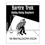 Sartre Trek Small Poster