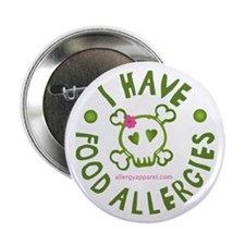 "I Have Food Allergies 2.25"" Button (10 pack)"