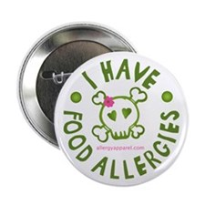 "I Have Food Allergies 2.25"" Button"