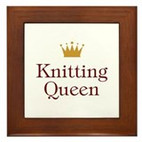 Knitting Queen Framed Tile