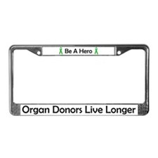 Living Longer License Plate Frame
