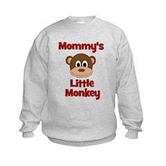 Mommy's Little Monkey Kids Sweatshirt