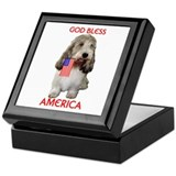 PBGV with Flag Keepsake Box