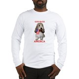 PBGV with Flag Long Sleeve T-Shirt