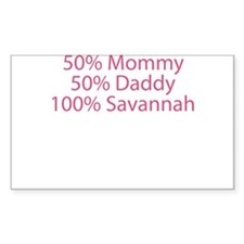 100% Savannah Decal