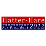 Mad Hatter for President Bumper Bumper Sticker