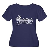 Team Wonderland Women's Plus Size Scoop Neck Dark