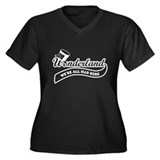 Team Wonderland Women's Plus Size V-Neck Dark T-Sh