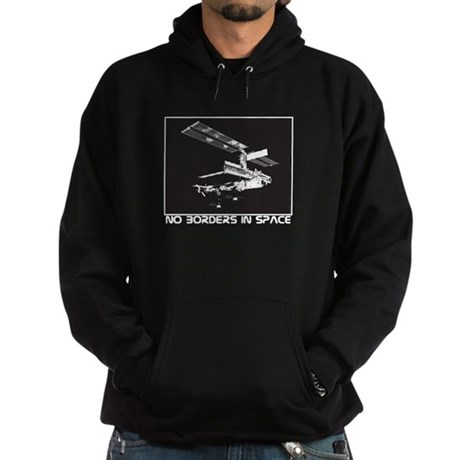 no borders in space Hoodie (dark)