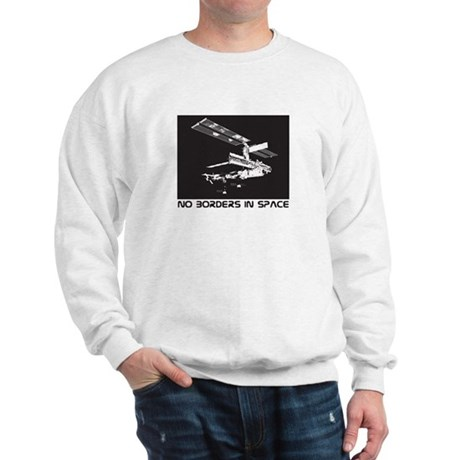 no borders in space Sweatshirt