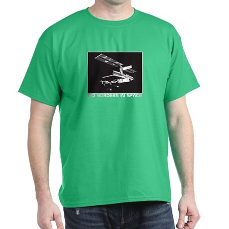 no borders in space Dark T-Shirt