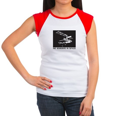 no borders in space Women's Cap Sleeve T-Shirt