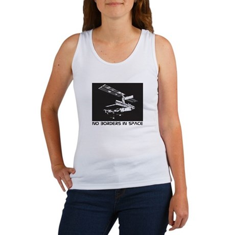 no borders in space Women's Tank Top