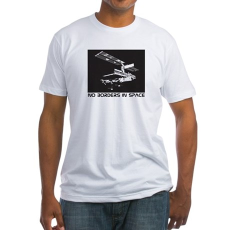 no borders in space Fitted T-Shirt