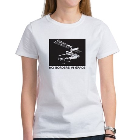 no borders in space Women's T-Shirt
