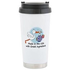 Stork Baby Greece USA Ceramic Travel Mug