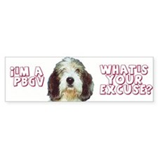 PBGV excuse Bumper Bumper Sticker