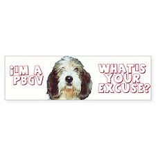 PBGV excuse Bumper Bumper Sticker