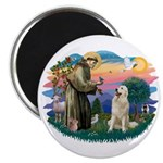 St. Fran #2/ Great Pyrenees #1 Magnet