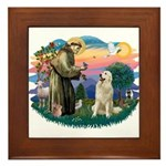 St. Fran #2/ Great Pyrenees #1 Framed Tile