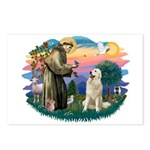 St. Fran #2/ Great Pyrenees #1 Postcards (Package
