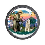 St. Fran #2/ Great Pyrenees #1 Wall Clock