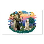 St. Fran #2/ Great Pyrenees #1 Sticker (Rectangle