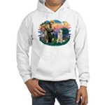 St. Fran #2/ Great Pyrenees #1 Hooded Sweatshirt