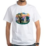 St. Fran #2/ Great Pyrenees #1 White T-Shirt