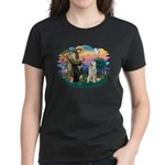St. Fran #2/ Great Pyrenees #1 Women's Dark T-Shir