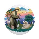 St. Fran #2/ Great Pyrenees (#2) Ornament (Round)