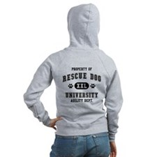 Property of Rescue Dog Univ. Zip Hoodie
