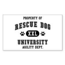 Property of Rescue Dog Univ. Decal