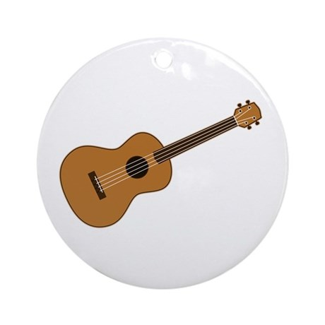 Ukulele Ornament (Round)