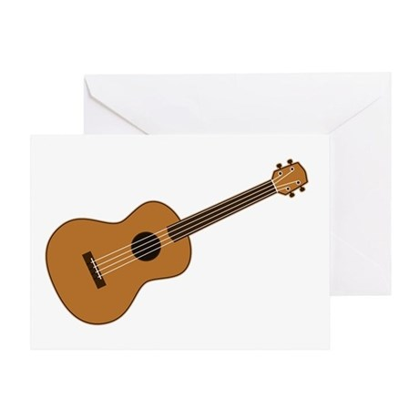 Ukulele Greeting Card