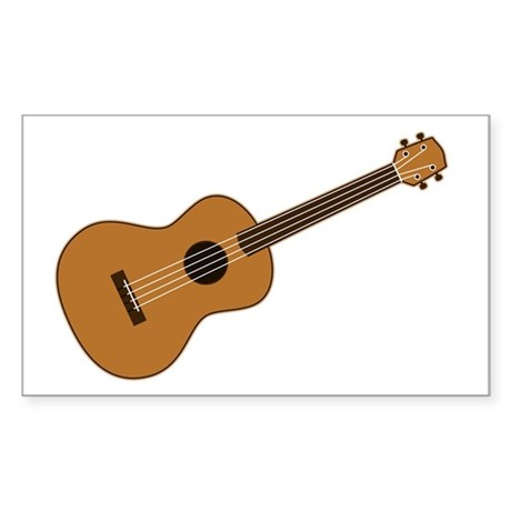 Ukulele Sticker (Rectangle 50 pk)