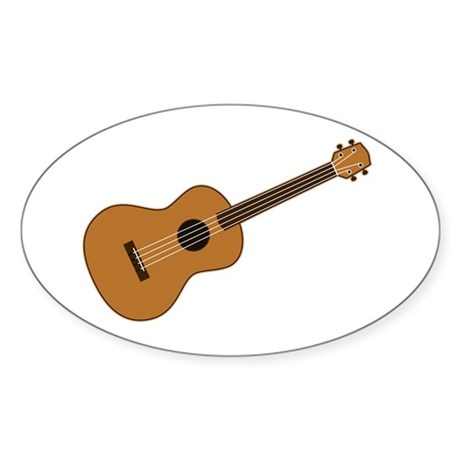 Ukulele Sticker (Oval)