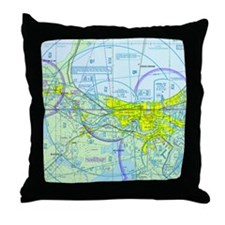 MSY Sectional Chart Throw Pillow