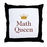 Math Queen Throw Pillow