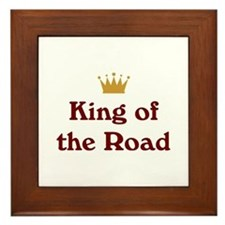 King of the Road Framed Tile