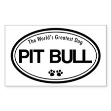 World's Greatest Pit Bull Rectangle Decal