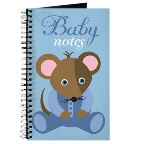 Blue Mouse Baby Journal Gift