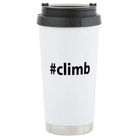 #climb Ceramic Travel Mug