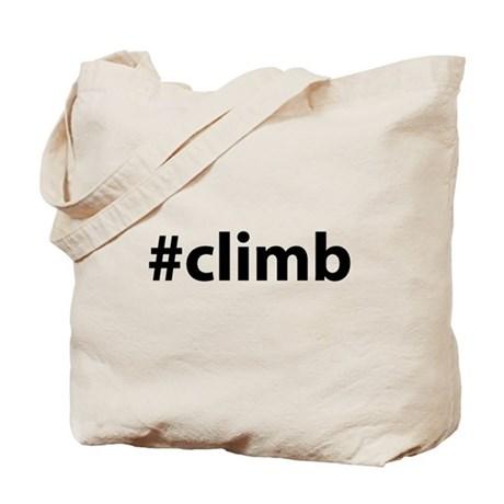 #climb Tote Bag