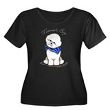 Bichon Mama's Boy Women's Plus Size Scoop Neck Dar