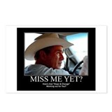 George W Bush Miss me Yet Postcards (Package of 8)