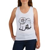 Girly Bichon Frise Women's Tank Top
