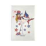 4th of July Martini Girl Rectangle Magnet