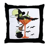 Halloween Martini Girl Throw Pillow