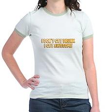 I Don't Get Drunk I Get Awesome Jr Ringer T-Shirt